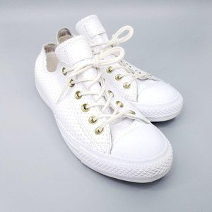 Converse All Star Leather Sneakers Men 8 Womens 10
